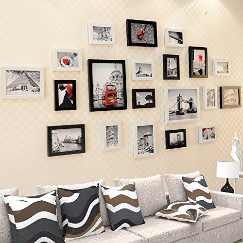 X&L Foto Wand Wohnzimmer Schlafzimmer Wand Kasten Kombi creative schwarz-weiß Foto Wand Wand hängen , black and white retro architecture