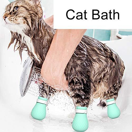 Überprüfen Schuhe (XIYAO Anti-Scratch Cat Schuhe Stiefel, Cat Claws Cover/Stiefel/Cap Cat Paw Protector für die meisten Größe Kitty für zu Hause Baden, Rasieren, Überprüfen, Behandlung in Pet Hospital)