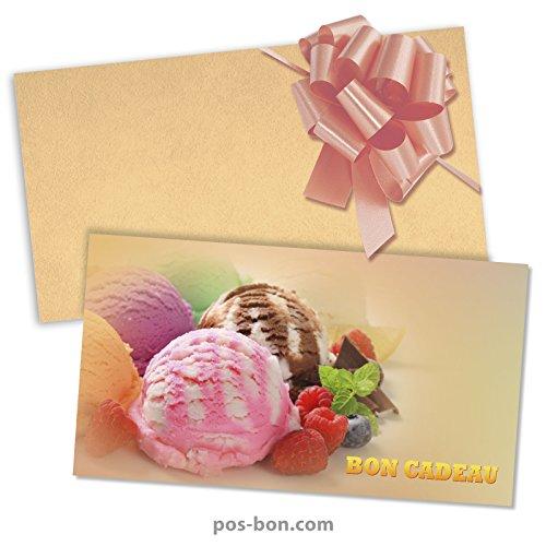 100 Bons cadeaux + 100 enveloppe...