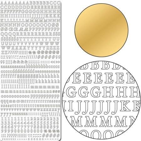 Aufkleber 10x23cm x10 gold Buchstaben/Zahlen -