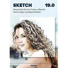 Franzis Sketch 19.0,  Verwandeln Sie Ihre Fotos in Bleistiftzeichnungen und Aquarellbilder,  Bildbearbeitungssoftware für PC und Apple Mac