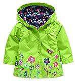2-6 Jahre alte Kinder Mäntel Baby Mädchen Jungen Regenmantel Wasserdichte Kleidung für Kinder (120: Kind Höhe 105-110 cm / 41-43 Zoll, Grün)