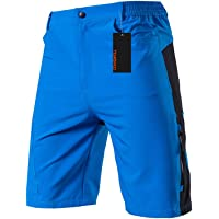 TOM SHOO Men's Baggy Cycling Shorts Breathable Loose-Fit Outdoor Sports MTB Cycling Running Shorts