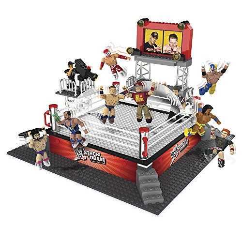 WWE-Stackdown-Battle-Brawlin-Ring-Set-with-3-Figures