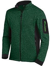 FHB Strickfleece Jacke atmungsaktiv, Farbe:grün;Größe:L