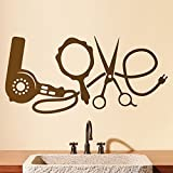 CVANU Hairdressing Wall Sticker Hairdressing Articles Love