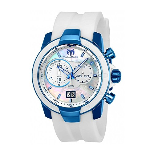 technomarine-uf6-herren-armbanduhr-45mm-armband-silikon-weiss-gehause-edelstahl-batterie-analog-tm-6