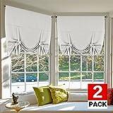 H.Versailtex Thermo-Vorhänge für Badezimmer, Gardinenstange, 106,7 cm breit, 160 cm lang, Weiß Modern Standard Style - 42' W x 63' L Greyish White