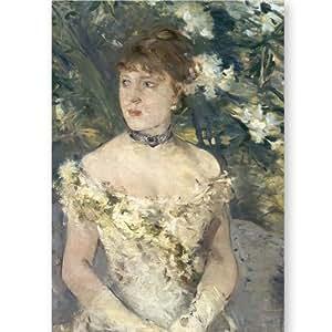 Paris - Musée d'Orsay - Jeune femme en toilette de bal - Carte postale 10,5 x 15 cm