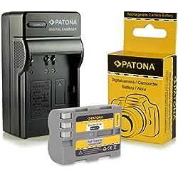 PATONA 3en1 Chargeur + Batterie EN-EL3E pour Nikon D50 D70s D80 D90 D200 D300 D700 et bien plus encore