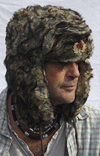 Classic Russian army style Ushanka - Trapper style hat Sz 59cm (Large)