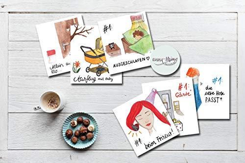 Mama Meilensteine (12 Motivkarten Fotos & Journal) - Baby Meilensteine Pendant -