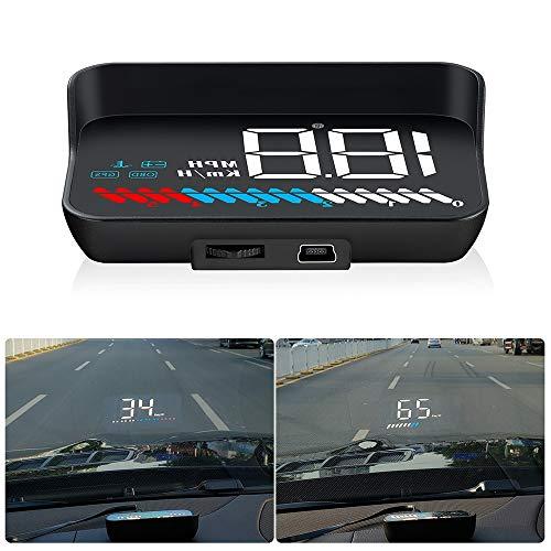 HUD Head Up Display Windschild-LED-Projektor, HUD-Reflexionsfilm, Geographisches Positionierungs System Tachometer, Plug & Play für alle Autos und LKWs