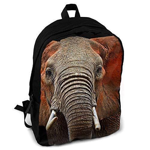 Hermosos Elefantes africanos Impresión de Moda Mochila para Adultos Viajes Senderismo Mochila
