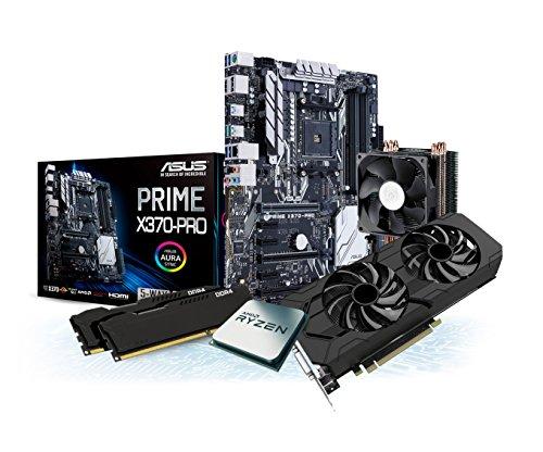 Kiebel Aufrüst-Bundle Ryzen: [182224] AMD Ryzen 7 1800X 8-Kern (8x3.6 GHz) | 16GB DDR4-2666 | nVidia GeForce GTX1070Ti 8GB GDDR5 | SupremeFX Sound + Gaming-LAN | ASUS X370-Pro | Aufrüst Set komplett vormontiert und getestet (Evo 8 Turbo Kit)