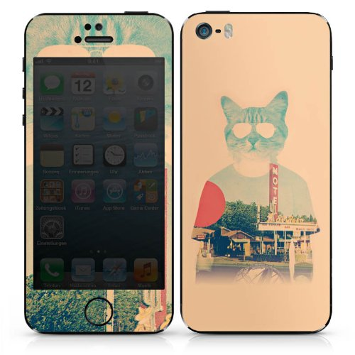 Apple iPhone SE Case Skin Sticker aus Vinyl-Folie Aufkleber Katze The Cat Ip Haustier DesignSkins® glänzend
