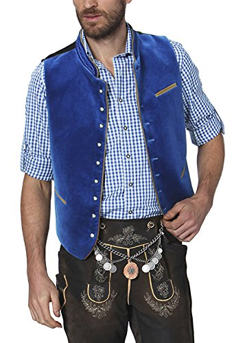 Stockerpoint Herren Trachtenweste Weste Ricardo Blau (Royale), Small (Herstellergröße: 46)