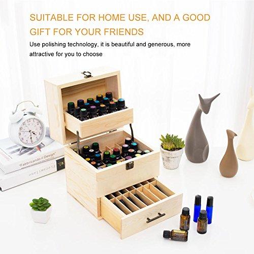 Ätherische Öle Box,Holz Hochwertige 3-lagige Ölbox Multifunktionale Aufbewahrungsbox...