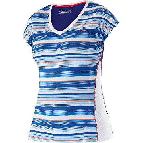HEAD Damen Ann V-Neck Shirt Women Oberbekleidung, Türkis, S