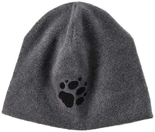 Jack Wolfskin PAW HAT, Unisex, Grey Heather, ONE Size (21 5/8 inch - 23 2/8 inch) -