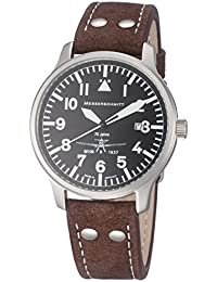 847029a49a46 Reloj de aviador con un Messerschmitt Fliegeruhr de la correa de cuero  ME-42BF-
