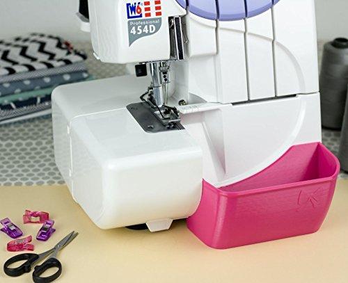 Nähwelt Flach Auffangbehälter für Overlock W6 Wertarbeit N 454D | Privileg N444 | Janome 9200D Verschiedene Farben (Pink)