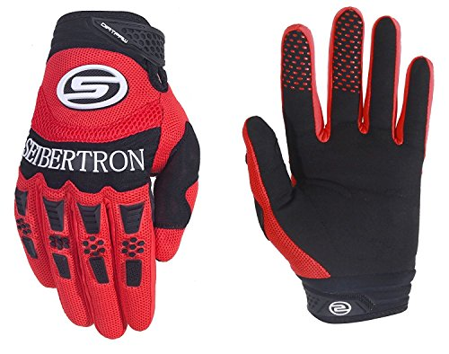 Seibertron Herren Handschuhe Dirtpaw Race Fahrrad Handschuhe sporthandschuhe für Radsport MTB Mountainbike Outdoor Sport Bike Gloves Red XL