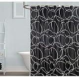 Mitlfuny - Maison & Jardin - Cuisine Nouveau Rideau de Douche étanche avec 12 Crochets Mosaic Printed Bathroom Polyester, Polyester, Multicolore, Medium