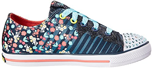 Skechers Chit Chat Dizzy Dayz, Baskets mode fille Bleu - Blau (NVCL)