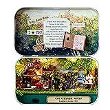 Puppenhaus Mini Welt in Box,DIY Mini Handgefertigt Puppenhaus Nettes Haus Box Miniaturprojekt-Kit zum Valentines Weihnachten Geburtstagsgeschenke Landschaft
