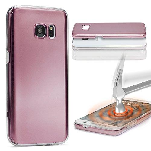 Urcover® Metalloptik Ultra Slim 360 Grad Edition | LG G4 | TPU in Rose Gold | Zubehör Tasche Case Handy-Cover Schutz-Hülle Schale