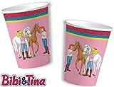 8 Becher * BIBI & TINA * für Kinderparty und Kindergeburtstag von DH-Konzept // Blocksberg Pappbecher Partybecher Cups Party Set