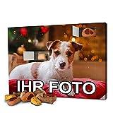 printplanet - Hunde-Adventskalender mit eigenem Foto personalisiert - mit Hunde Leckerlis gefüllt - Weihnachtskalender für Hunde