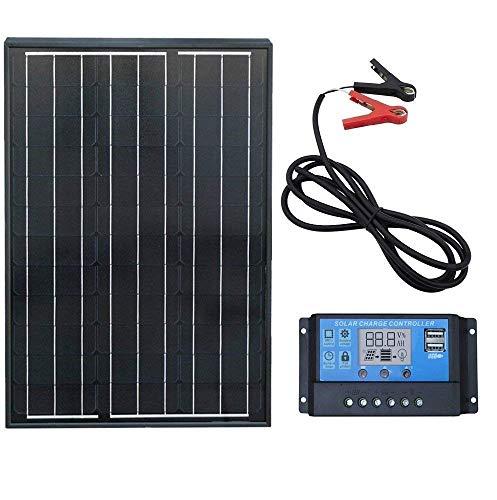 Panel solar mono de 60 W. Potencia relativa: 60 W. Voc: 21,6 V. Vpm: 18 V. Corriente de cortocircuito (Isc): 3,05 A. Corriente de trabajo (Ipm): 2,77 A. Tolerancia de salida: ±3%. Coeficiente de temperatura de Isc: (010+/- 0.01)/℃. Coeficiente de tem...