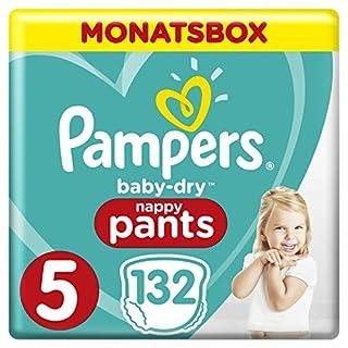 Pampers Baby-Dry Pants, Gr. 5, 12-17kg, Monatsbox, 1er Pack (1 x 132 Stück)