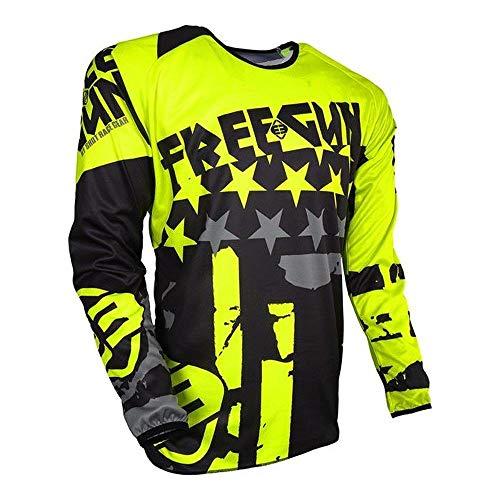 Shot FREEGUN DEVO KID USA Motocross Kinder Jersey 2018 - neongelb (Motocross Jersey Usa)