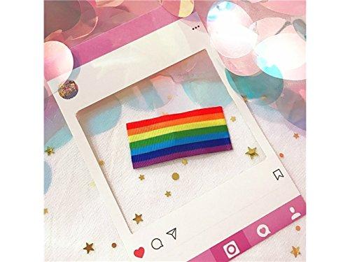 Schön Regenbogen Candy Farbe Haar Clip BB Haar Clip Pony Haarnadel Haarschmuck (Regenbogen Farbe) Haarschmuck