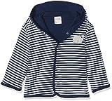 Schnizler Unisex Baby Jacke Jäckchen Wal, Marine Geringelt, Oeko-Tex Standard 100, Blau (Marine/Weiß 171), 74
