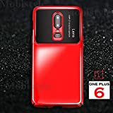mobistyle Camera Lens Protection Luxury & Elegant Case Cover for OnePlus 6 (Mirror Red)
