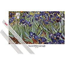 Póster + Soporte: Vincent Van Gogh Póster (91x61 cm) Iris, 1889 Y 1 Lote De 2 Varillas Transparentes 1art1®