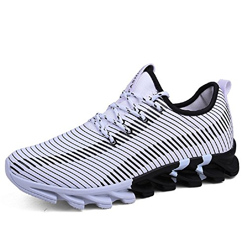 NEOKER Gym Trainers Walking Mens Fitness Sports Athletics Running Shoes White 43