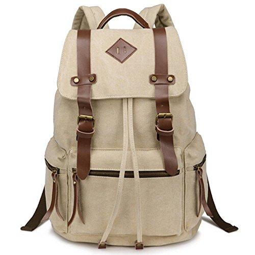 RichDeer-Leichtgewichtiger Rucksack mit Fächern Laptops/Notebook,Slim Rucksack(Beige)