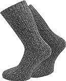 normani 4 Paar Warme Dicke Schafwollsocken wie handgestrickt/waschmaschienenfest Farbe Anthrazit Größe 35/38