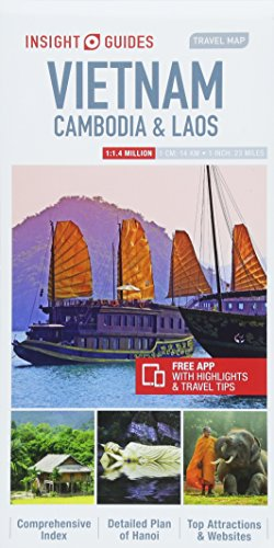Vietnam, Cambodia and Laos travel map. Insight guides (Insight Travel Maps)