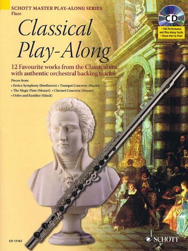 Classical Play-Along for Flute [With CD (Audio)] (Schott Master Play-Along) by Artem Vassiliev (1-Feb-2009) Paperback