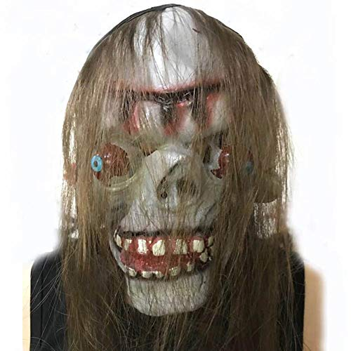 LJSHU Halloween Maske Scary Ganze Person Lustige Set Kopf Monster Off Augapfel Maske Schwarz Tuch Grimasse Horror Maske Bar Party Kostüm Dekoration,D (Basteln Scary Halloween-dekorationen)
