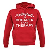 volleyball cheaper than therapy - Unisex Sweat/Pull - Rouge - XS