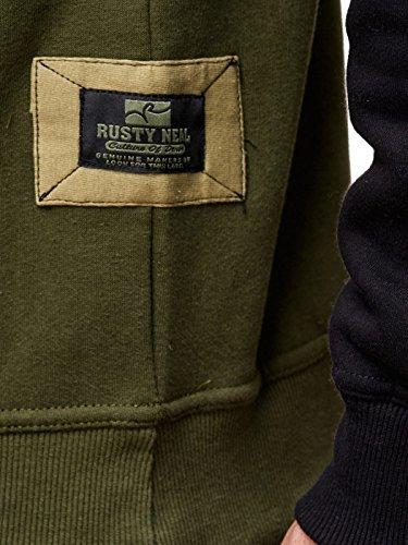 19044v2 Kapuzenpullover Kapuze Pullover Hoodie Sweatshirt Rot Sax Grau Schwarz Olive