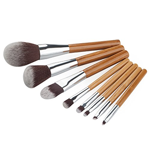 Kit de 8pcs Pinceaux Pro de Maquillage Cheveux Doux en Nylon
