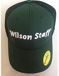 2016 WILSON STAFF MESH GOLF CAP. DARK GREEN.